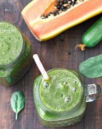 super green breakfast smoothie