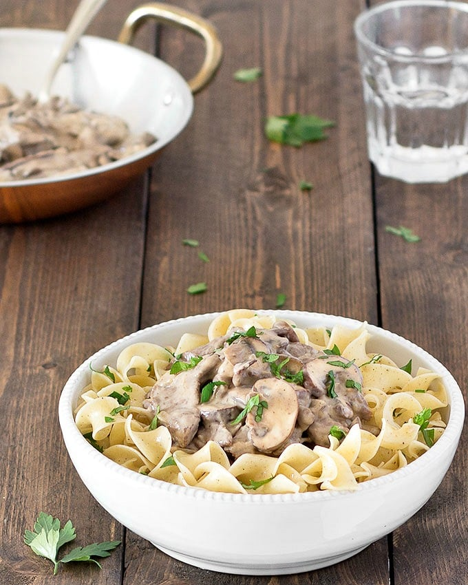 This healthier beef stroganoff takes just 30 minutes to make. It doesn't contain butter or sour cream and is just as tasty as its full fat version.