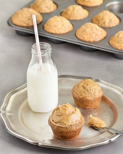 Banana Peanut Butter Breakfast Muffins: easy, delicious, soft and moist. Make them ahead and freeze them for busy mornings! No butter, no oil