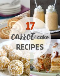 An amazing list of 17 unique, creative and delicious carrot cake recipes that everyone will love!