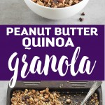 This crunchy peanut butter quinoa granola makes a simple, and delicious breakfast or snack! It is great with yogurt, milk, or eaten by the handful.