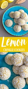 Easy lemon crinkle cookies made from scratch! Slightly crispy on the outside, soft on the inside - each cookie is packed with a delightful lemony flavor!
