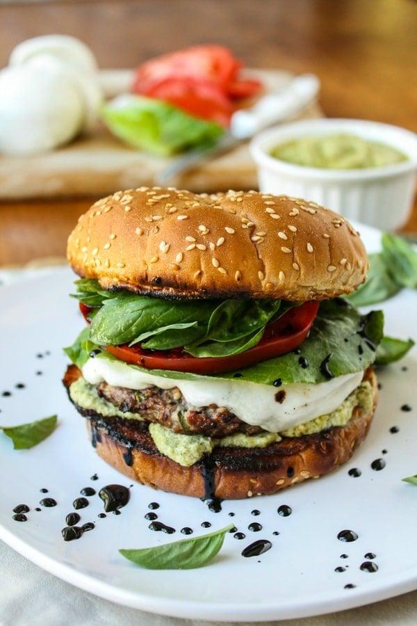 Saigon Burgers With Ginger Glaze And Thai Basil Mayo Recipe ...