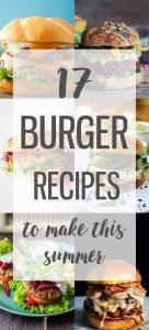 17 amazing burger recipes