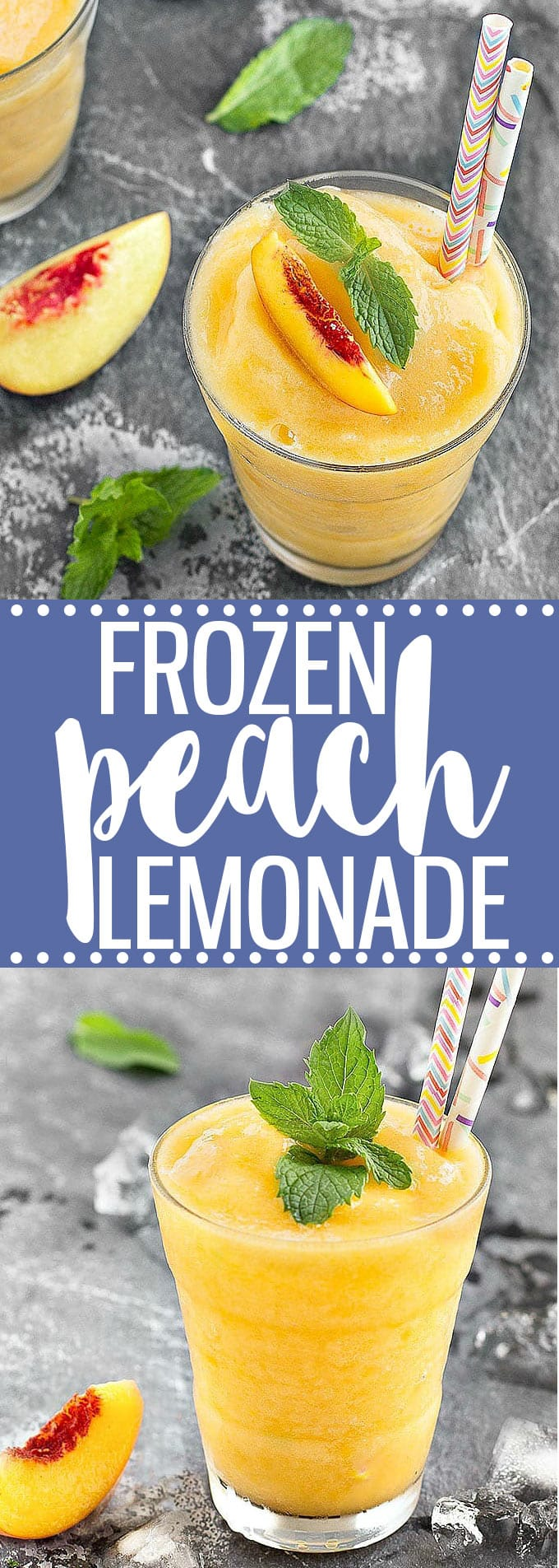 Frozen peach lemonade - the perfect refreshing beverage to cool you down this summer!