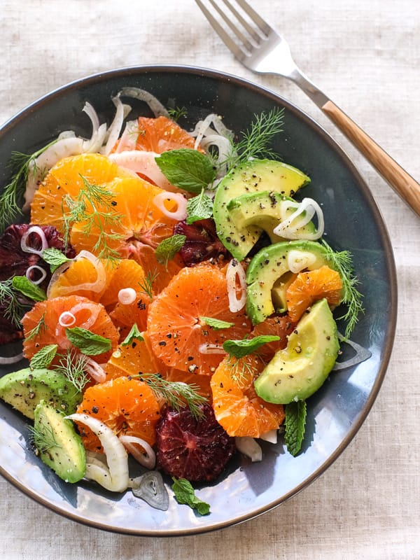 citrus fennel and avocado salad - what to cook in September