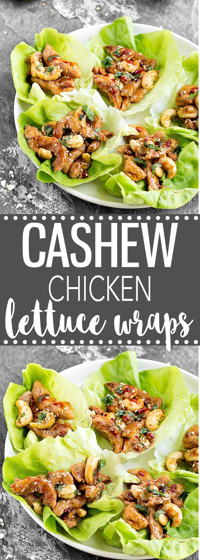These Cashew Chicken Lettuce Wraps are perfect for lunch, dinner, or even as a tasty appetizer. Simple, easy and healthy. Each wrap has only 165 calories! #chicken #lettucewraps #healthy #dinner #lunch #appetizer #healthyrecipes #healthyeating #cashew #easyrecipe | aseasyasapplepie.com