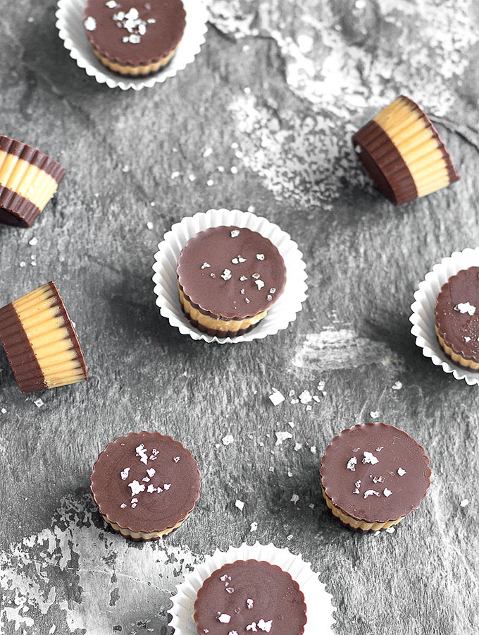 Super easy, no-bake Salted Chocolate Peanut Butter Cups made with only ...