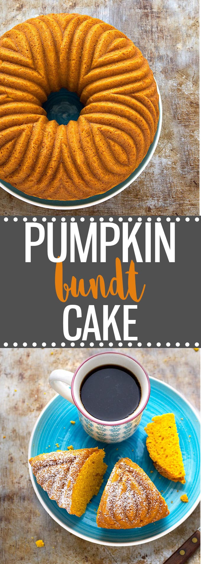 Easy Pumpkin Bundt Cake – Perfectly sweet, subtly spiced, moist, soft, tender, and bursting with fall flavors! Great for breakfast, as a snack, or as a dessert. #pumpkin #bundt #cake #dessert #easyrecipe #fall #autumn #baking #thanksgiving #halloween