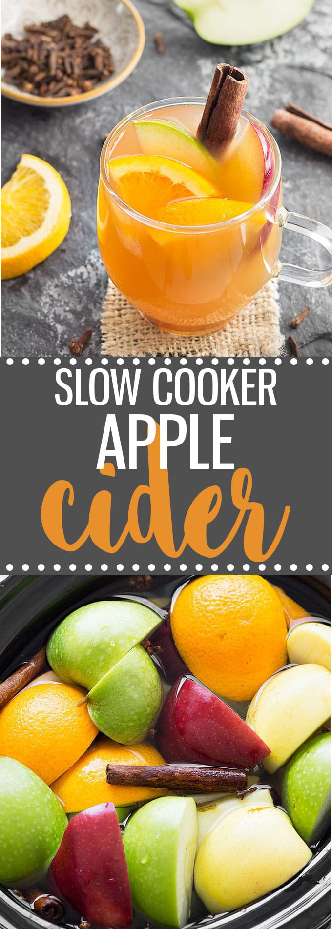 Make homemade apple cider from scratch in the slow cooker for a quick and easy, cozy fall drink.