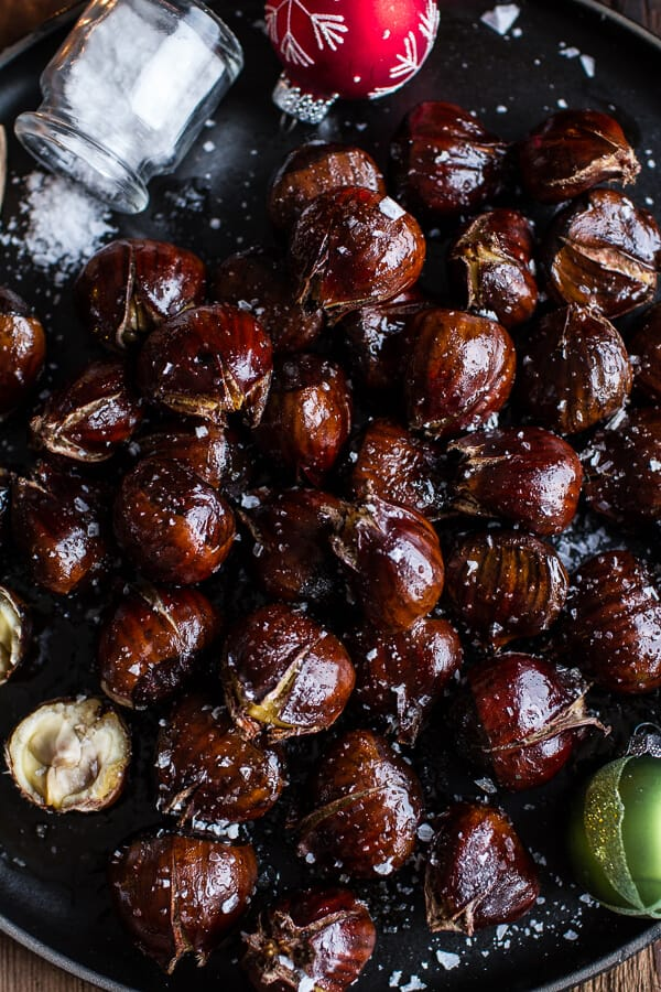 What to Cook in December - make the most of the seasonal bounty of Brussels Sprouts, root vegetables, and citrus fruits with these simple and delicious recipes. Salted coffee butter roasted chestnuts. As Easy As Apple Pie.