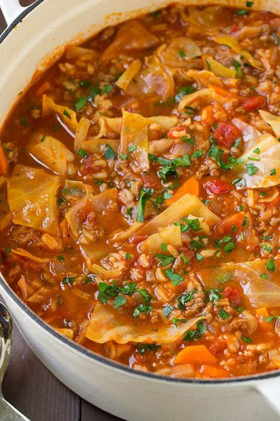 What to Cook in November - Take advantage of the seasonal bounty of winter squash, beets, and apples with these easy and tasty recipes. Cabbage roll soup recipe