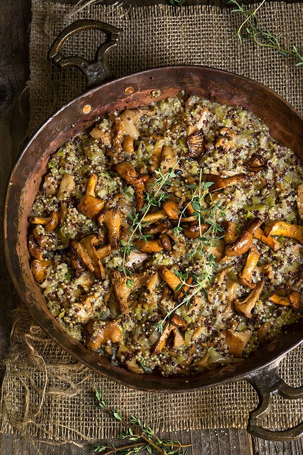 What to Cook in November - Take advantage of the seasonal bounty of winter squash, beets, and apples with these easy and tasty recipes. CREAMY MUSHROOM AND LEEK QUINOA RISOTTO recipe