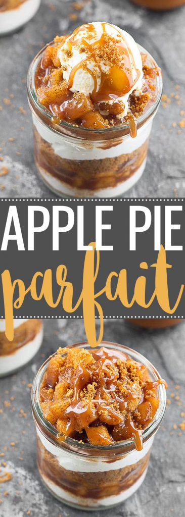 Apple Pie Yogurt Parfait - the perfect easy dessert for fall gatherings! It's creamy, crunchy, perfectly sweet, subtly spiced and delicious