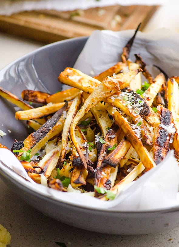 What to Cook in November - Take advantage of the seasonal bounty of winter squash, beets, and apples with these easy and tasty recipes. PARMESAN GARLIC PARSNIP FRIES
