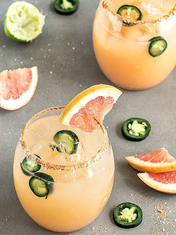 What to Cook in December - make the most of the seasonal bounty of Brussels Sprouts, root vegetables, and citrus fruits with these simple and delicious recipes. Spicy grapefruit jalapeno margarita. As Easy As Apple Pie.