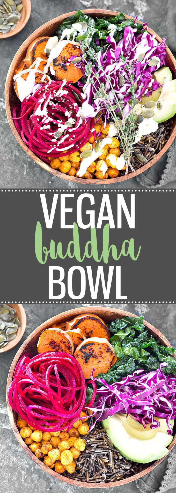 Vegan Buddha Bowl with Lemon Tahini Dressing - This power bowl is absolutely delicious! Super easy to make, packed with flavor, nourishing, and healthy. #buddhabowl #bowl #powerbowl #vegan #healthyrecipes #healthyeating #dressing #tahini | aseasyasapplepie.com