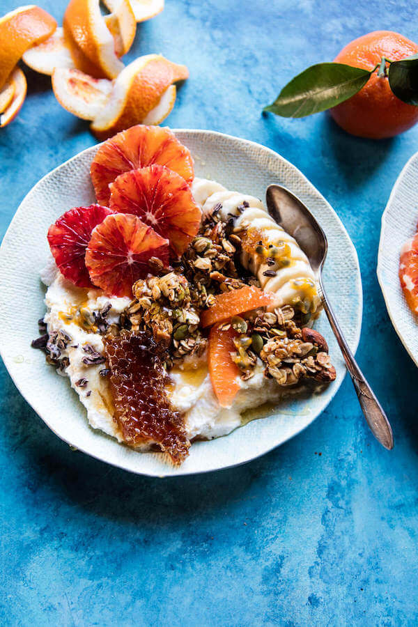 What to Cook in February - February produce reference guide + 10 simple, delicious, and seasonal recipes | winter citrus ricotta breakfast bowl