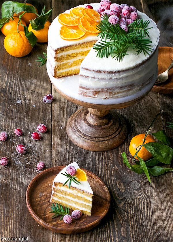 What to Cook in February - February produce reference guide + 10 simple, delicious, and seasonal recipes | tangerine layer cake