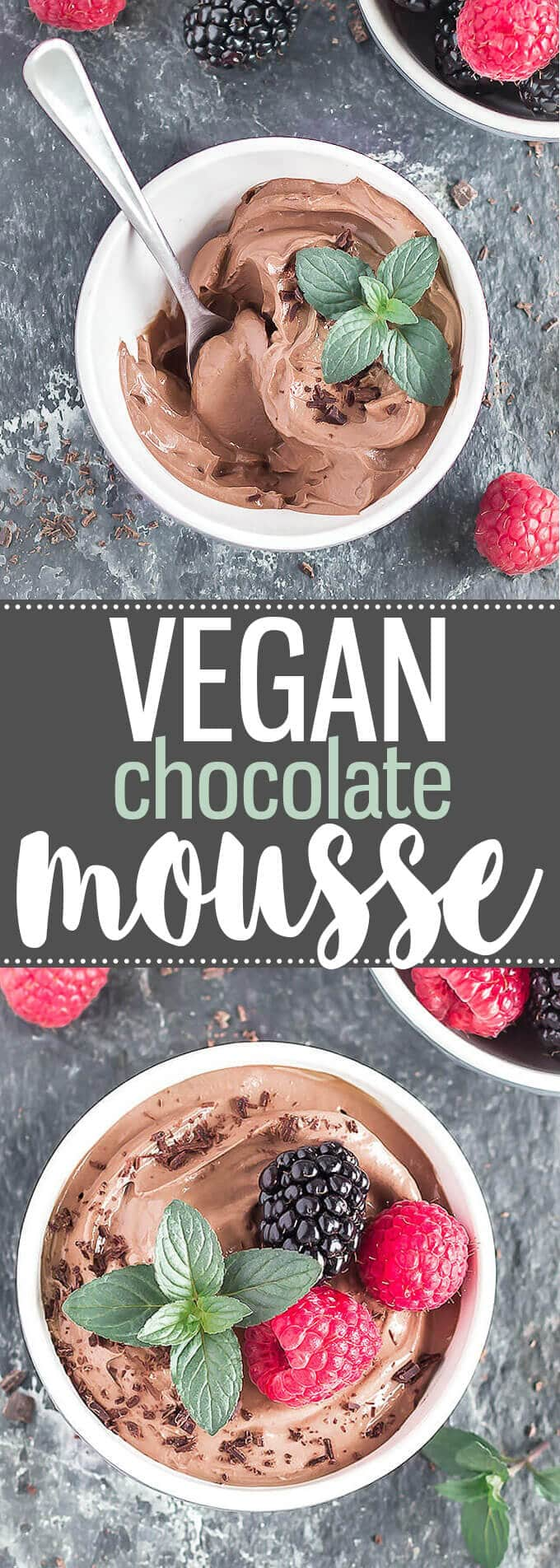 3-Ingredient Silken Tofu Chocolate Mousse - A super easy dessert or snack, ready in 5 minutes, and you can't taste the tofu! gluten-free, dairy-free, eggless, and vegan. #dessert #chocolate #chocolatedessert #tofu #silkentofu #mousse #vegan #dairyfree #glutenfree #3ingredient #healthyrecipes #healthyeating #easyrecipes