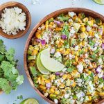 Mexican Street Corn Salad with Avocado is always a crowd-pleaser! It's fast and easy to prepare, and has a tasty balance of fresh flavors and textures. With Cinco de Mayo just around the corner, this recipe is definitely on my list!