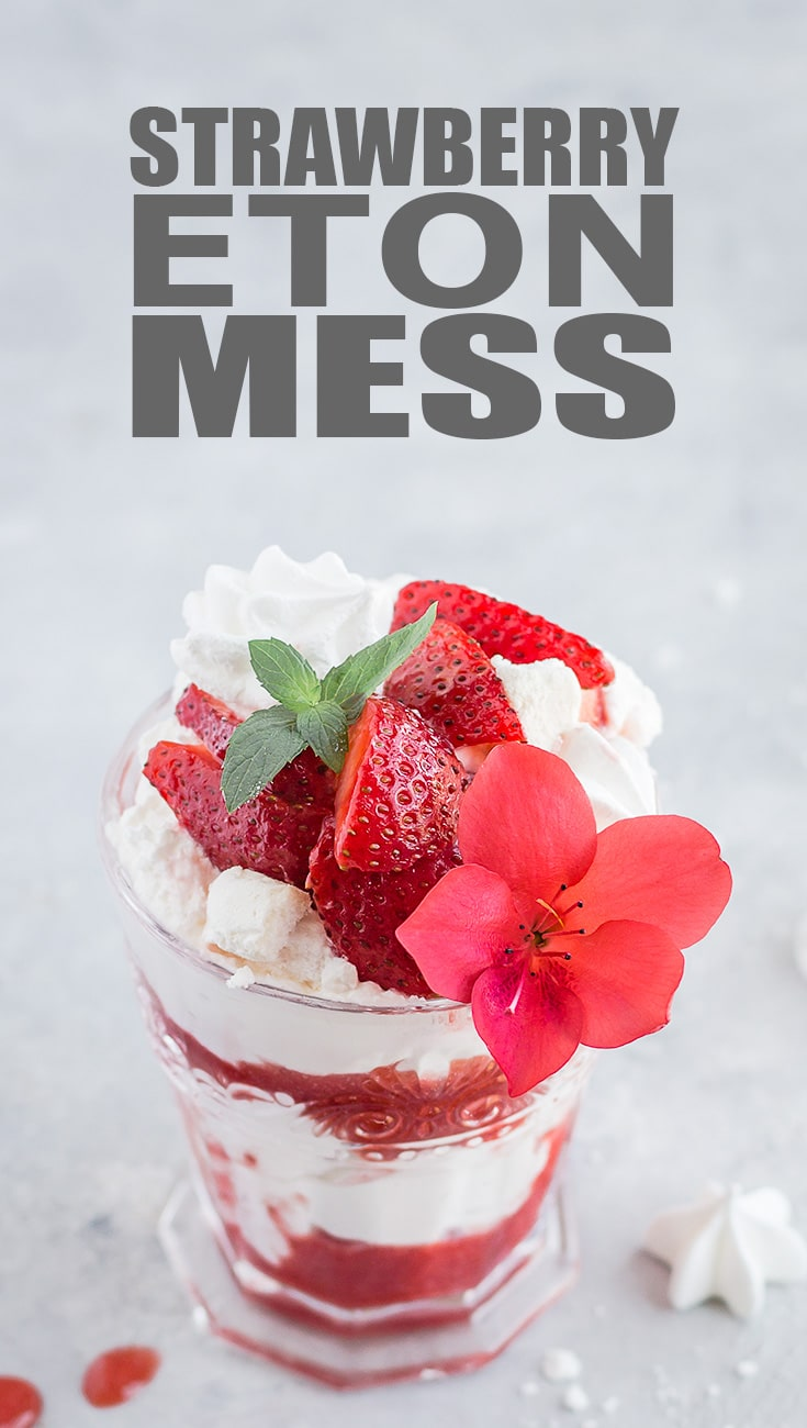Strawberry Eton Mess - This classic British dessert is easy to throw together and versatile. Use store-bought meringues to cut down on prep time.
