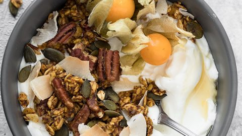 Healthy Pumpkin Spice Granola - As Easy As Apple Pie