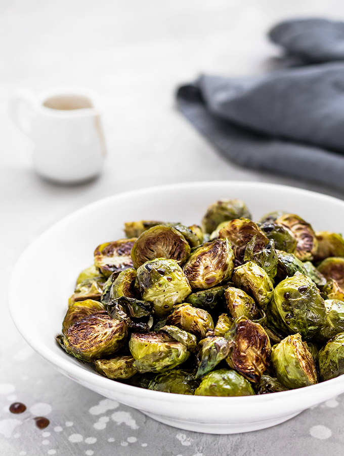Roasted Balsamic Brussels Sprouts are the perfect holiday side dish!