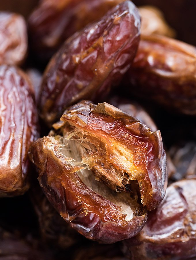 close-up of medjool dates