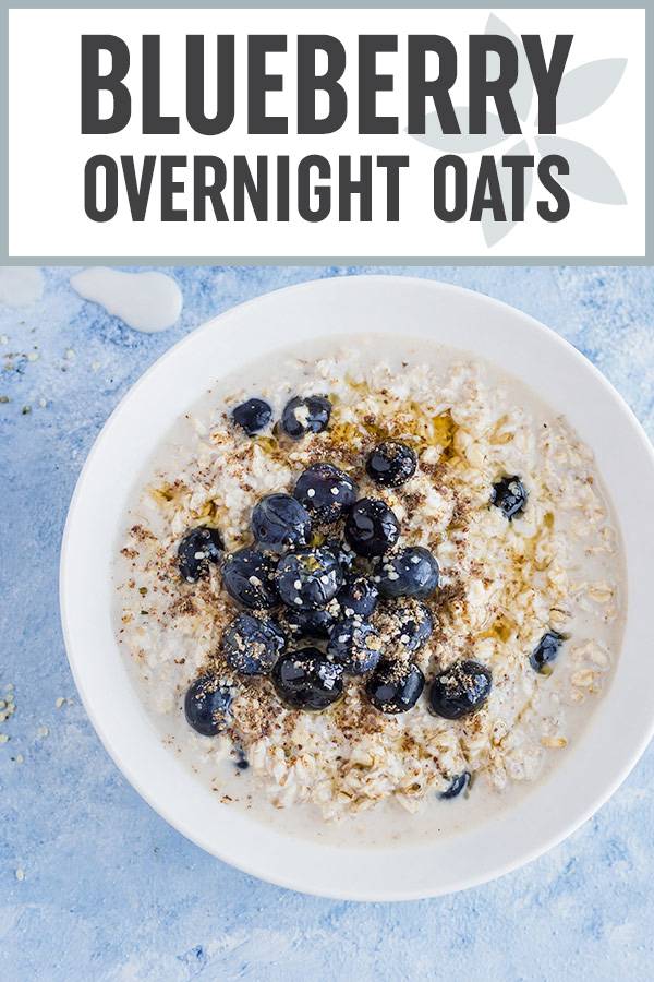 These Blueberry Overnight Oats are great for busy mornings because they can be made ahead of time, are super easy to prepare, portable, and they'll keep you full until lunchtime! #overnightoats #breakfast #mealprep #healthyrecipes #blueberries #easyrecipes #makeahead #oats
