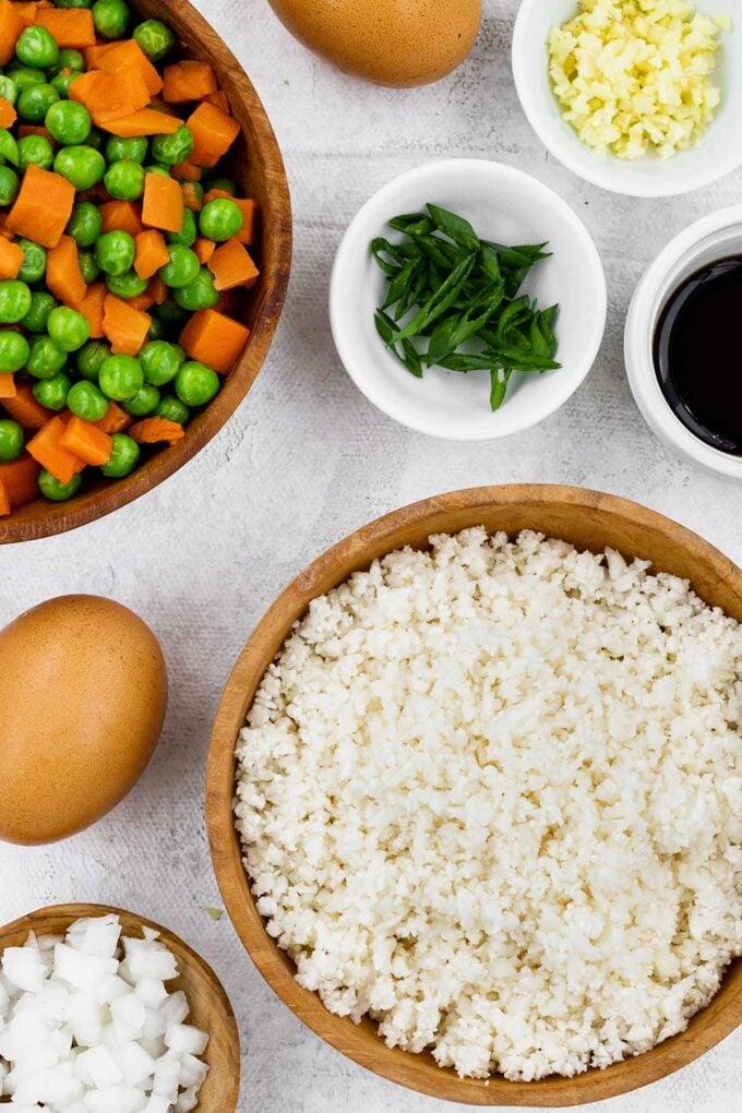 cauliflower stir-fry ingredients