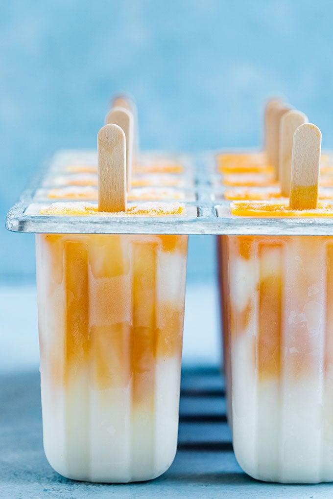 yogurt popsicles in mold