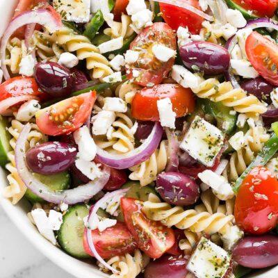 pasta salad close up